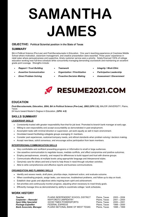 Optimized Functional Resume Template 2021 Resume 2021