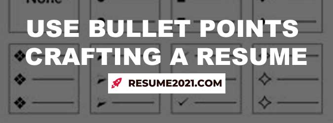 using bullet points in resume