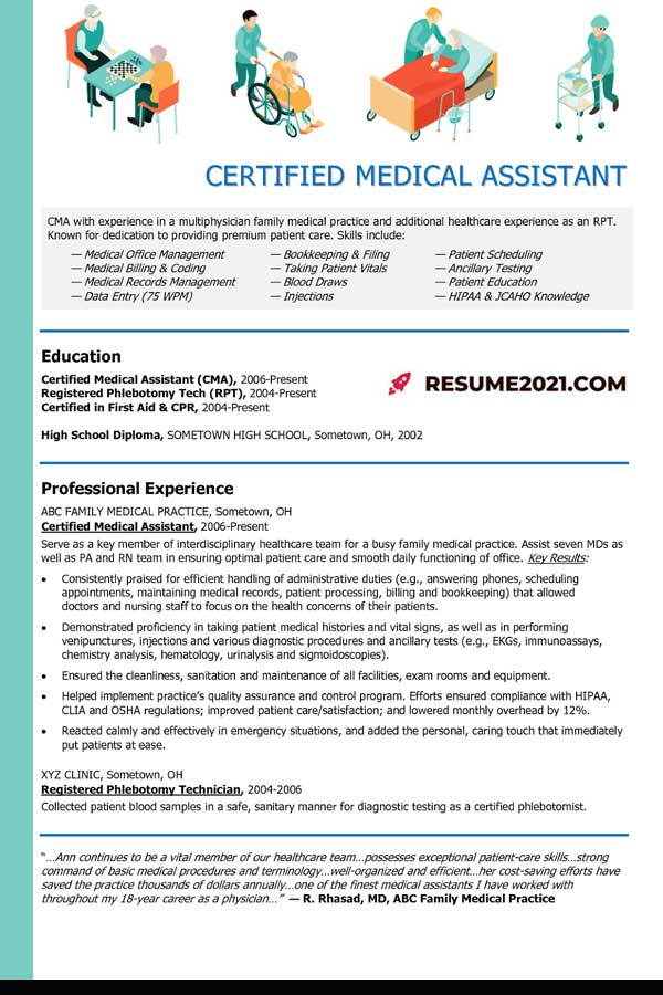 Nurce Assistant 2021 resume template