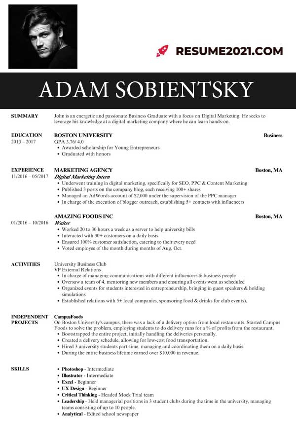 latest student resume examples 2021 for free ⋆ resume 2021